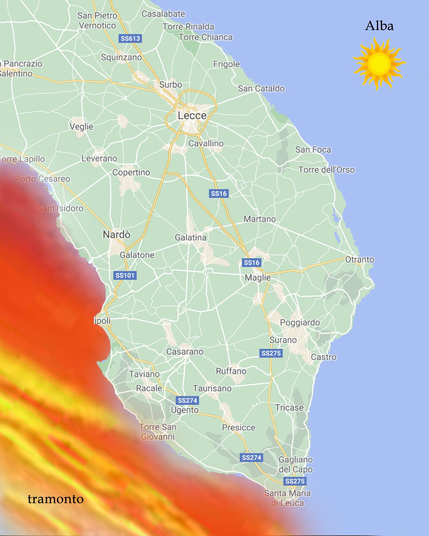 Cartina Puglia Localita Turistiche.Cartina Salento Mappa Di Spiagge Borghi Strade Esperienze Salento